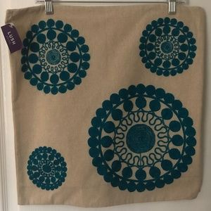 NWT LUSH Decor Embroidered Pillow Cover